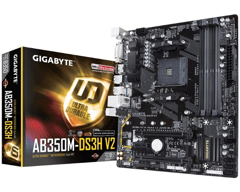 Gigabyte AMD MB GA-AB350M-DS3H V2 1.1 AM4