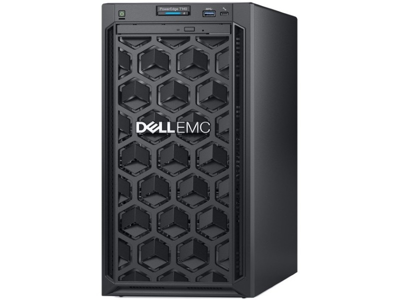 DELL PowerEdge T140 Xeon E-2124 4C 2x8GB H330 2x1TB SATA DVDRW 365W 3yr NBD