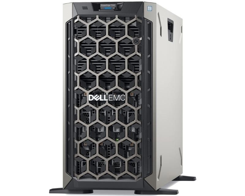 DELL PowerEdge T340 Xeon E-2124 4C 1x16GB 2TB NLSAS H730P 495W (1+0) 3yr NBD
