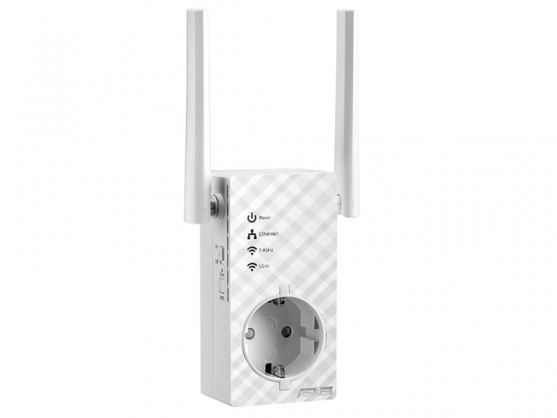 Asus Wi-Fi Range Extender Repeater AC750 Dual-Band, RP-AC53, MU-MIMO, White (RP-AC53)
