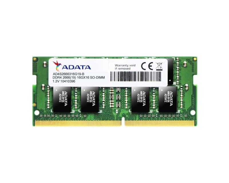 A-DATA SODIMM DDR4 4GB 2666Mhz AD4S2666J4G19-B