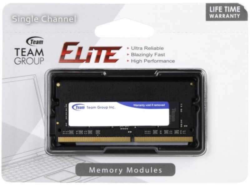 TeamGroup DDR4 TEAM ELITE SO-DIMM 8GB 2400MHz 1.2V 16-16-16-39 TED48G2400C16-S01