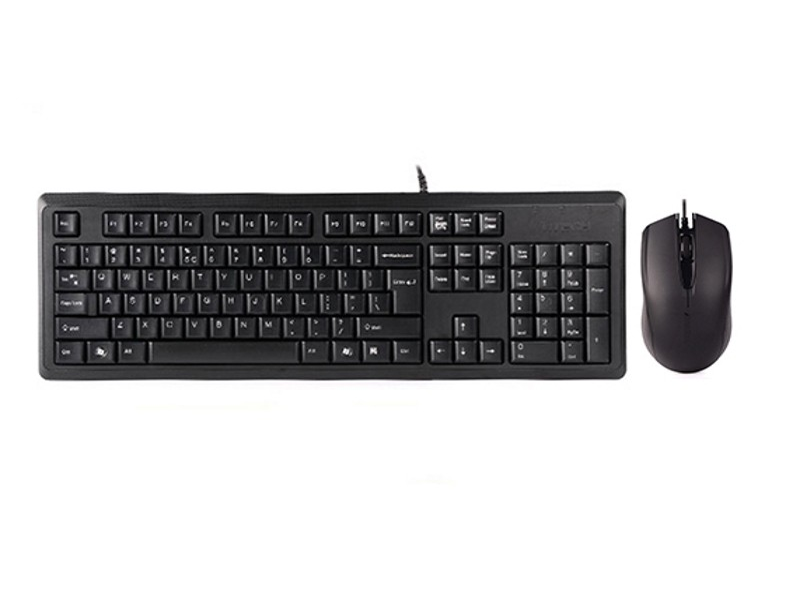 A4 TECH KR-9276 USB US crna tastatura + USB crni miš