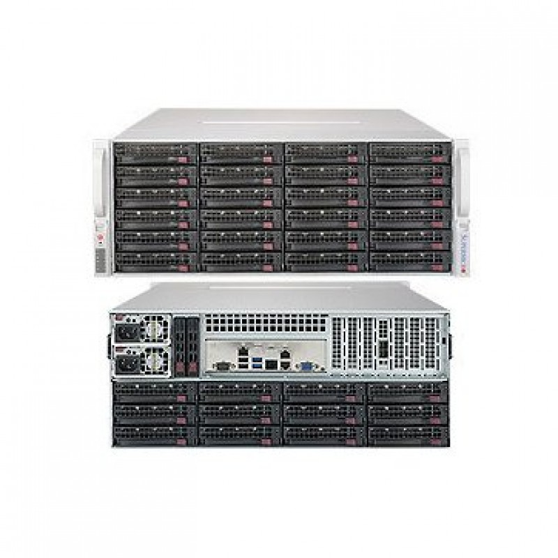 Supermicro Server Storage SSG-5049P-E1CTR36L with 3 years warranty - 4U Rackmount - 36 Hot-swap 3.5 SAS SATA drive bays with SES3 (24 fron