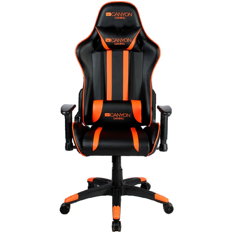 Gaming chair, PU leather, Cold molded foam, Metal Frame,  Butterfly mechanism, 90-150 dgree, 2D armrest, Class 4 gas lift, Nylon 5 Stars Ba