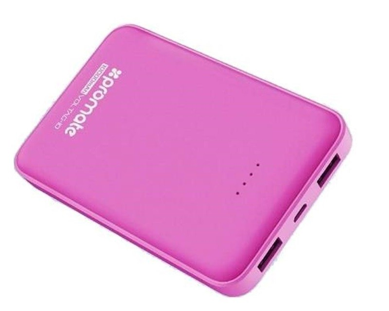 PROMATE VolTag-10 LITHIUM POLYMER Power Bank 10000mA pink