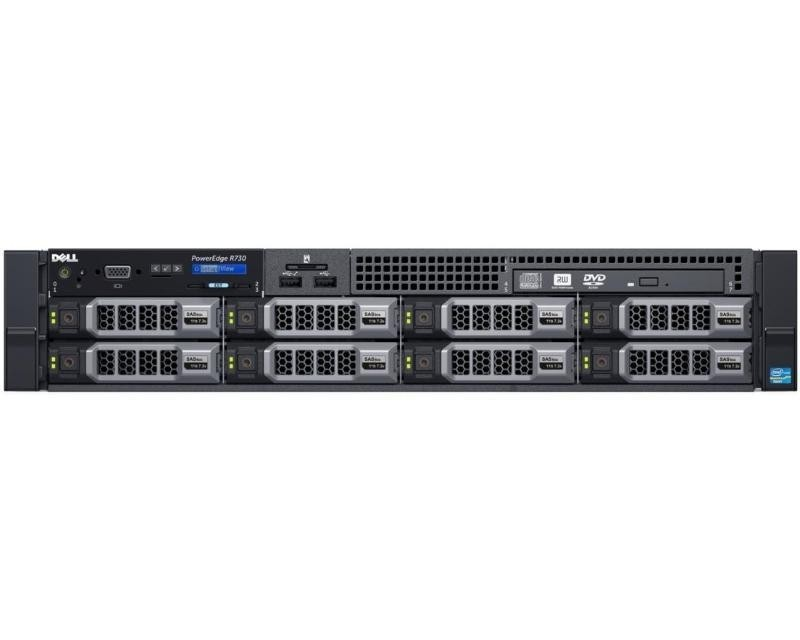 DELL PowerEdge R730 E5-2620 v4 1x16GB H730 300GB SAS DVDRW 750W (1+1) 3yr NBD + Sine za Rack