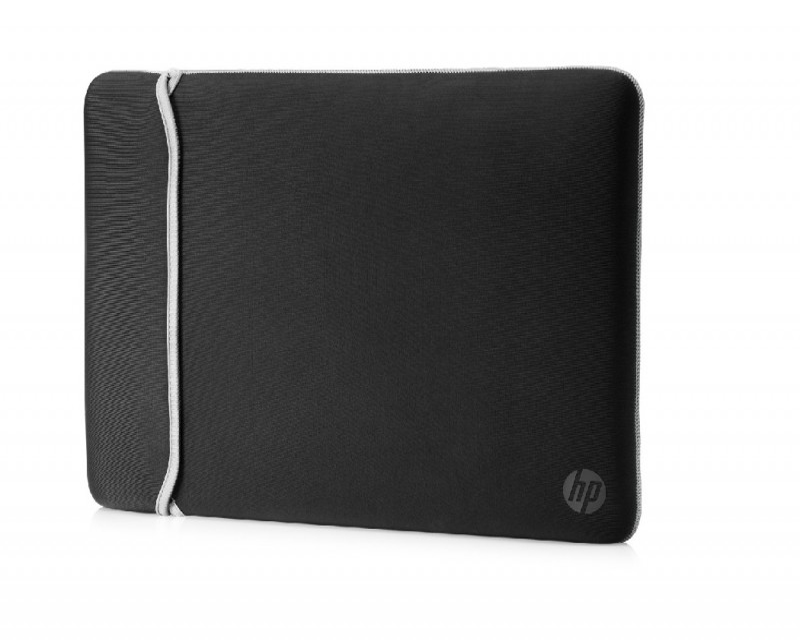 HP 39.62 cm (15.6) Neoprene Reversible Sleeve (Black/Silver)(2UF62A (2UF62AA)