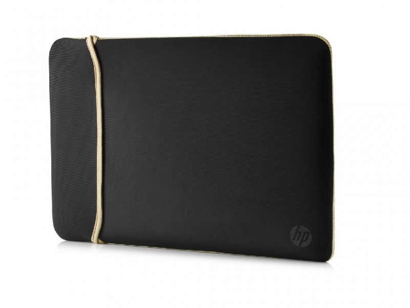 HP 39.62 cm (15.6) Neoprene Reversible Sleeve (Black/Gold)(2UF60A (2UF60AA)