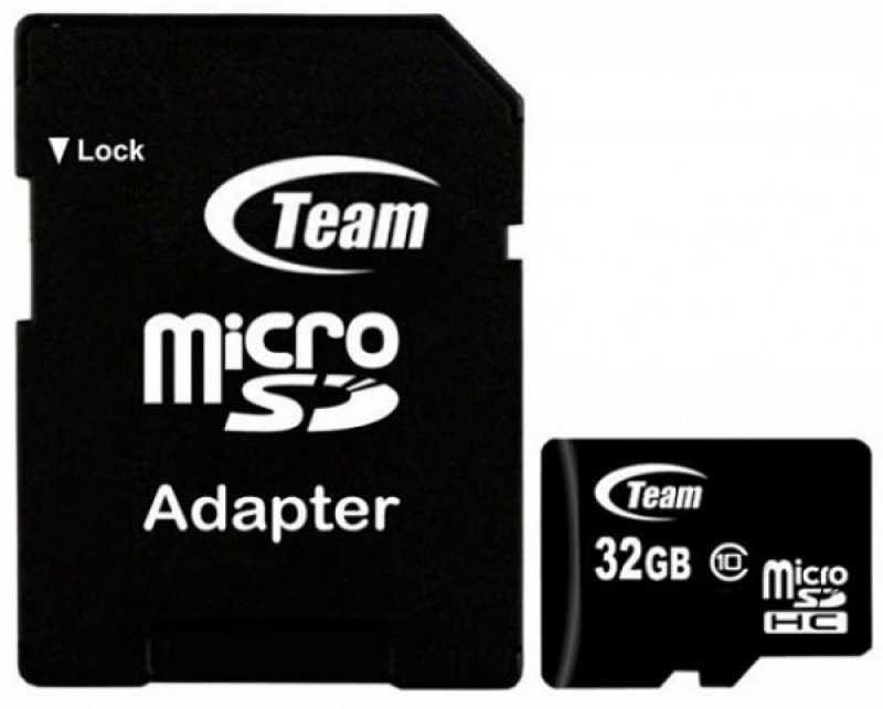 TeamGroup MICRO SDHC 32GB CLASS 10+SD Adapter TUSDH32GCL1003