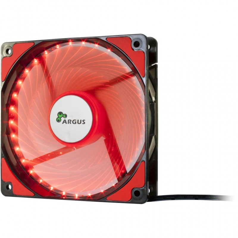 VENT KUC.12CM ARGUS LED RED