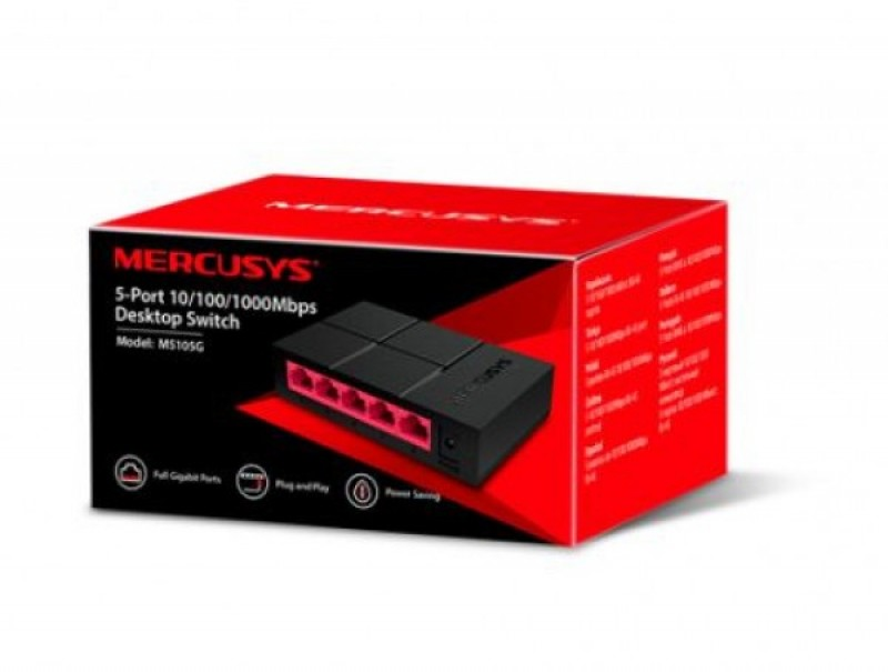 Mercusys MS105G 5-port 10-100-1000 Desktop Switch