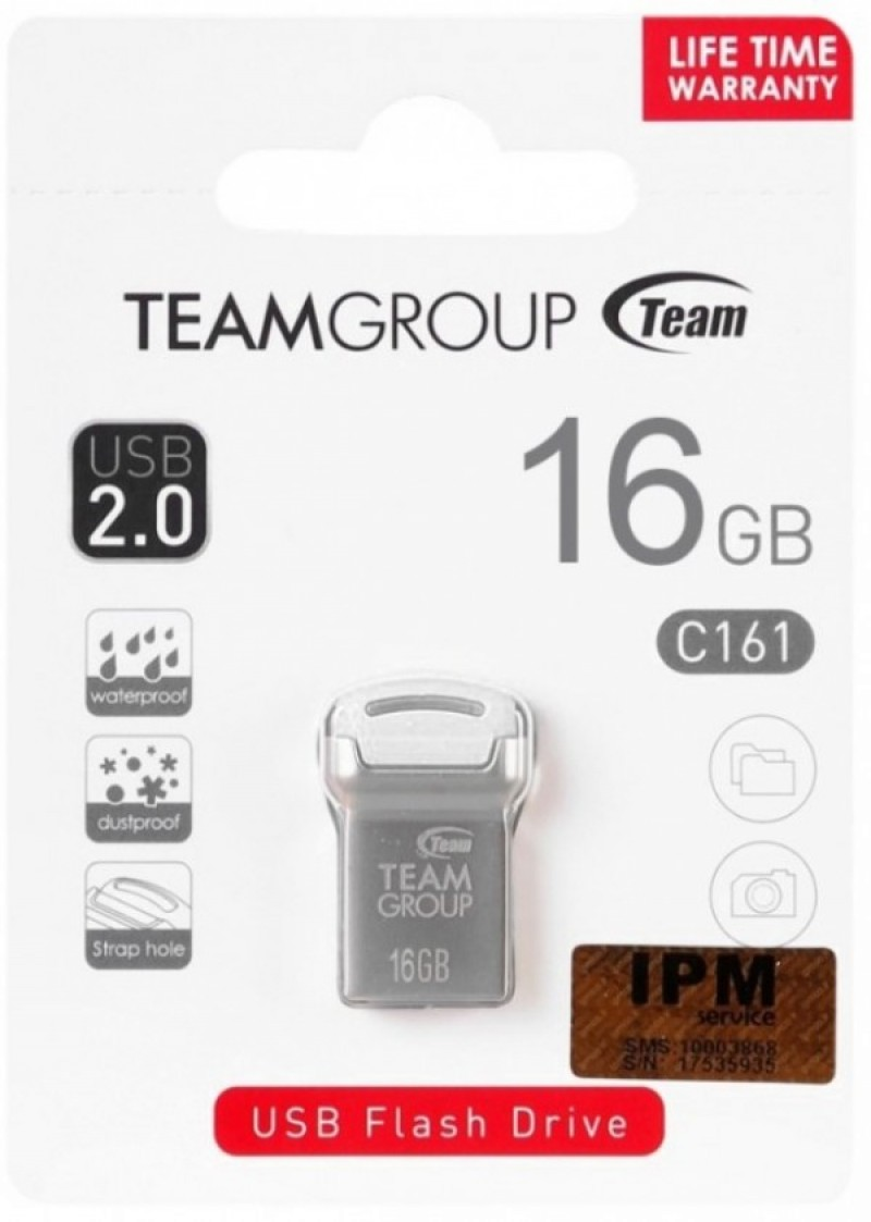 TeamGroup 16GB C161 USB 2.0 WHITE TC16116GW01