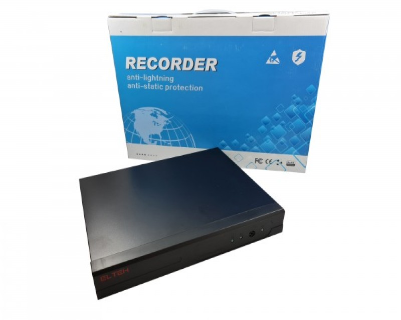 DVR Elteh EL358041, 4 kanala IP H.265 3GP server 4k 8mpix