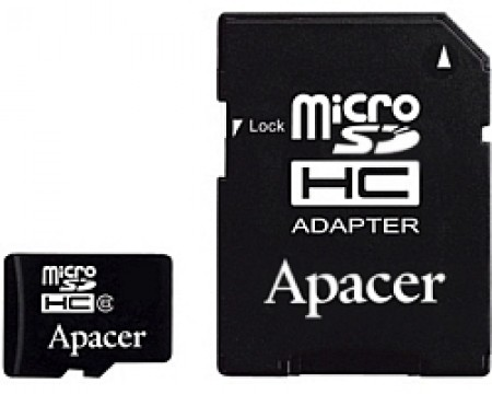 APACER MicroSDHC 16GB class 4 + adapter AP16GMCSH4-R