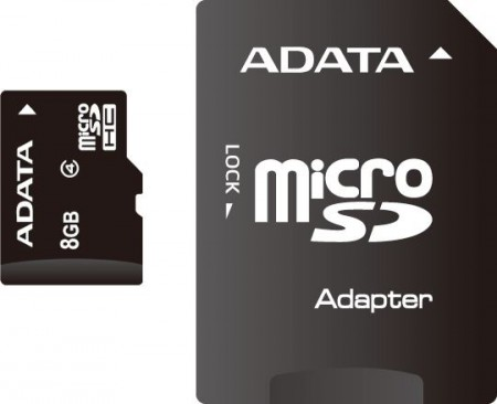 FLASH MICROSD 8GB A-DATA + AD