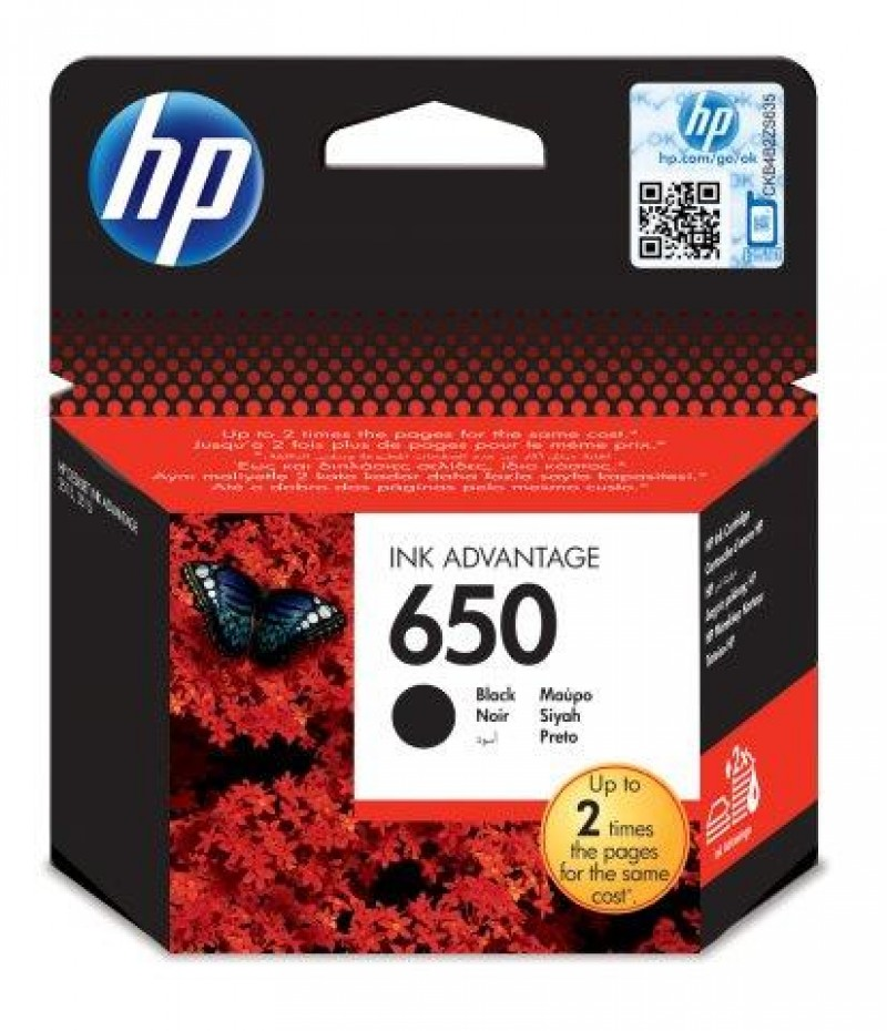 HP 650 Black Ink Cartridge [CZ101AE],HP Deskjet Ink Advantage 2515 and 2515 e-All-in-One Printers